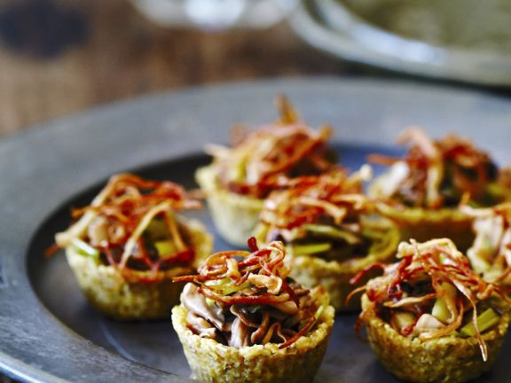 Grain and Woodland Veg Pastry Cups