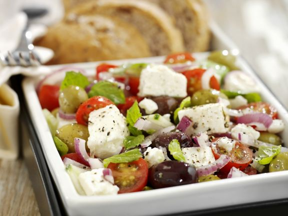 Greek Cheese and Olive Salad Bowl