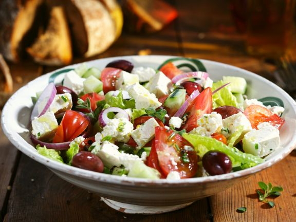 Greek-style Feta, Red Onion, and Olive Salad