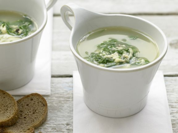 Green and Gold Chicken Soup