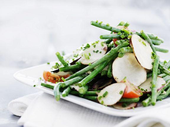 Green Bean Salad with Jerusalem Artichoke Slices