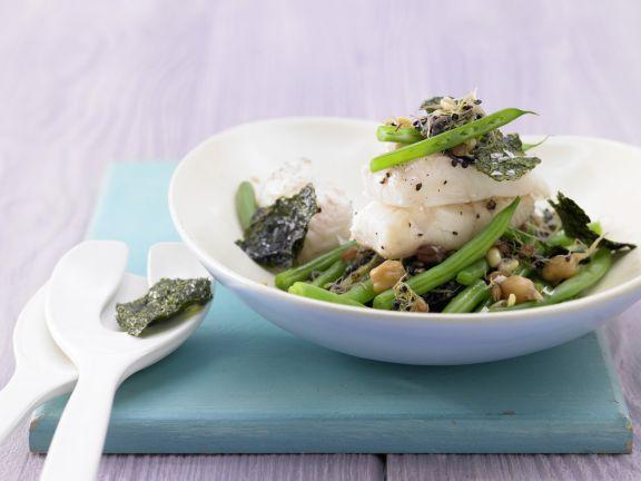 Green Bean Stir-Fry with Halibut