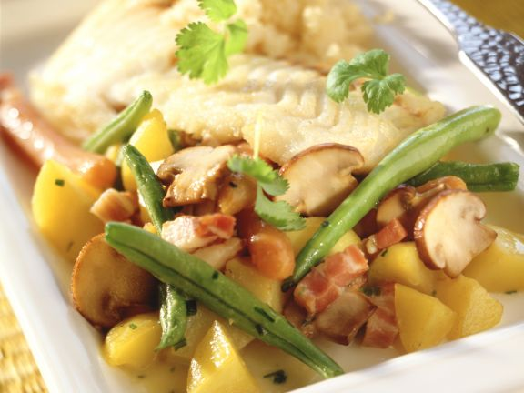 Green Beans, Mushrooms and Bacon with Potatoes