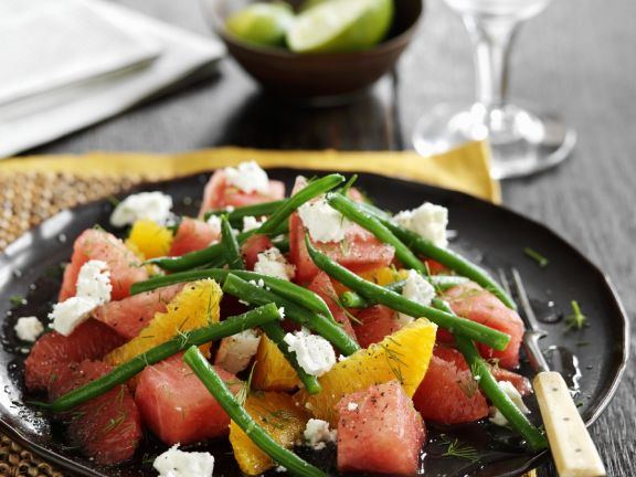Green Beans with Melon and Citrus Fruits