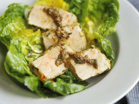 Green Leaves with Sardines and Tuna