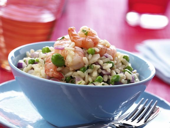 Green Pea and Prawn Rice Bowl