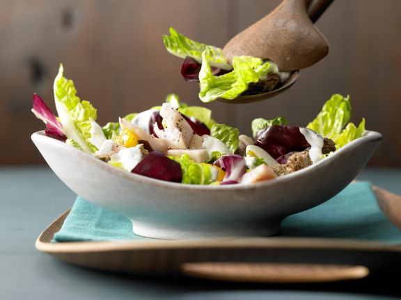 Green Salad with Smoked Trout