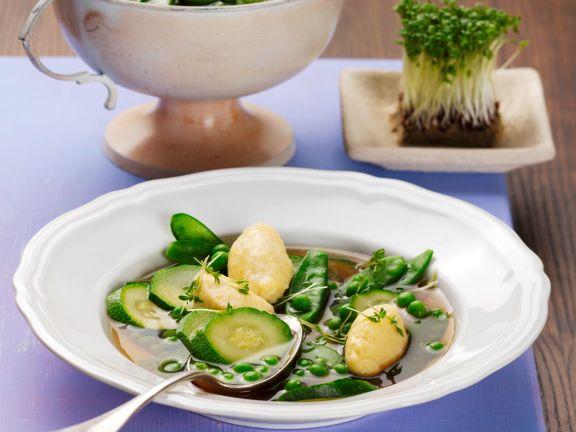 Green Soup with Saffron Dumplings