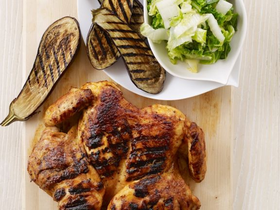 Grilled and Butterflied Chicken