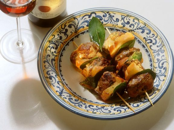 Grilled Calf's Liver Skewers