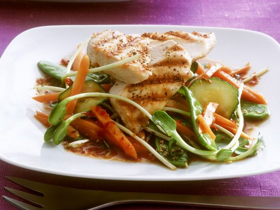 Grilled Chicken with Mixed Veggies