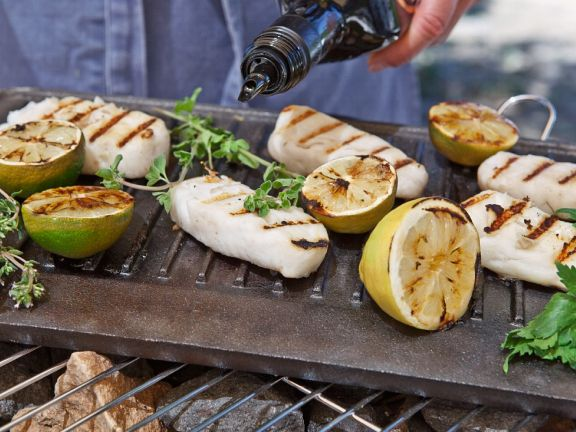Grilled Cod with Lime and Lemon