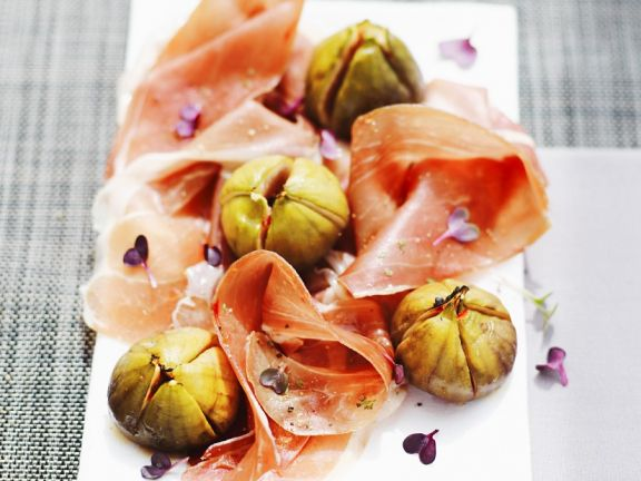 Grilled Figs with Ham