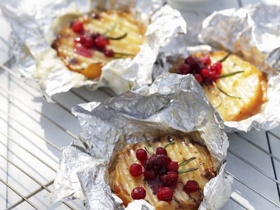 Grilled Goat Cheese and Cranberries
