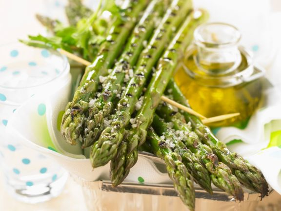 Grilled Green Asparagus with Sea Salt