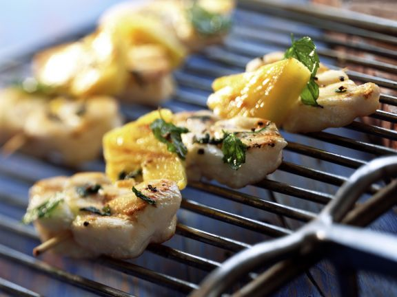Grilled Monkfish Skewers