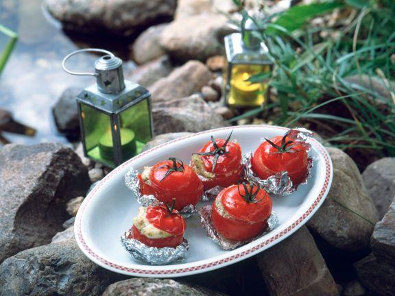 Grilled Mozzarella Pesto Tomatoes