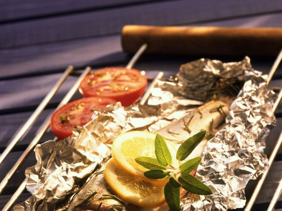 Grilled Trout with Tomatoes