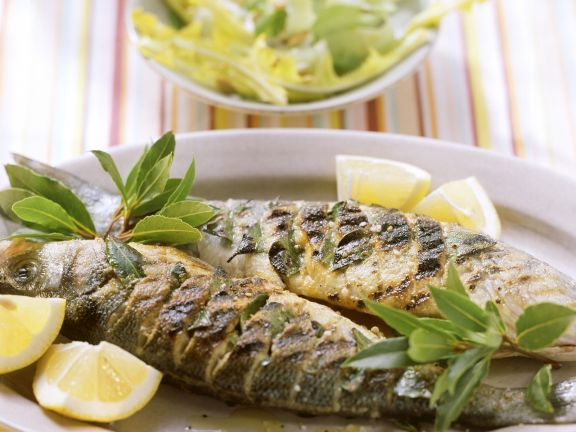 Grilled Whole Sea Bass