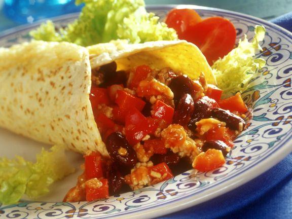 Bean and Bean Tortilla Wraps