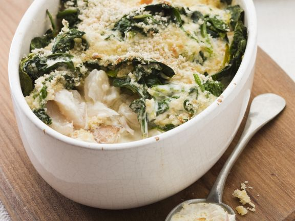 Haddock and Spinach Bake