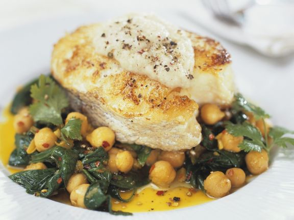 halibut with garbanzo beans recipe  eat smarter usa
