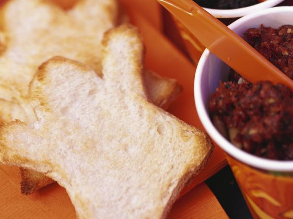 Halloween Toasts with Tapenade