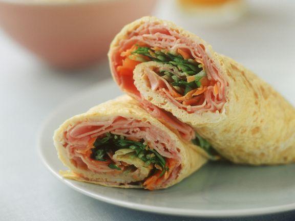 Ham Salad Omelette Wrap