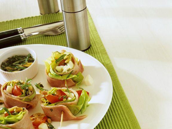 Ham-Vegetable Appetizers
