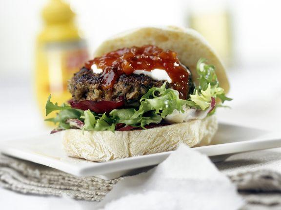 Hamburgers on Ciabatta