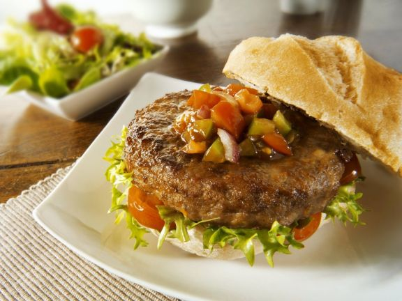Hamburgers with Salsa