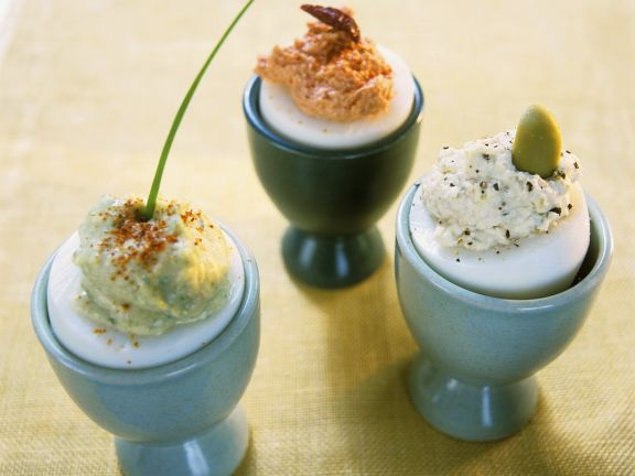 Hard-Boiled Eggs with Three Sauces