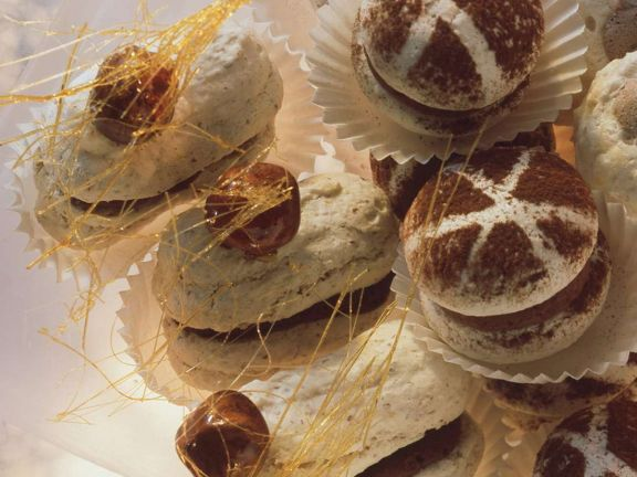 Hazelnut Chocolate Meringue Cookies