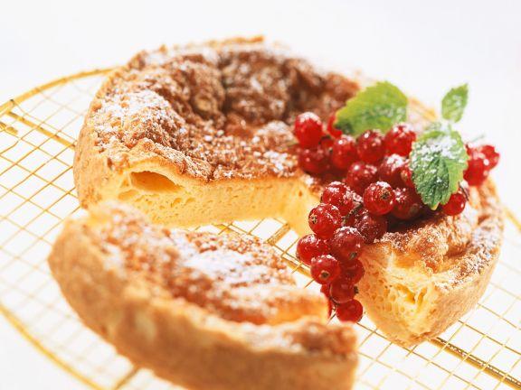 Hazelnut Custard Cake with Currants