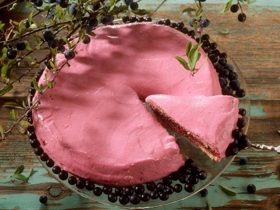 Hazelnut Honey Cake with Blackthorn Berries