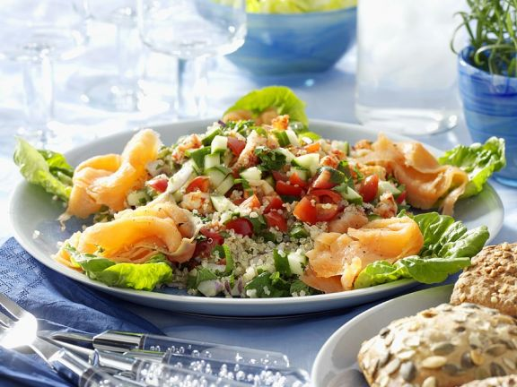 Healthy Grain and Salmon Salad