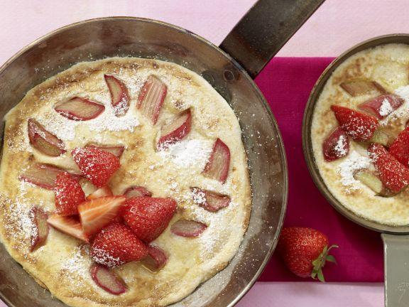 Semolina Pancake with Rhubarb