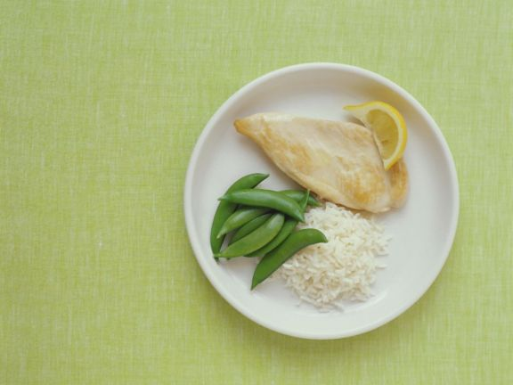 Healthy Sautéed Chicken with Sugar Snaps