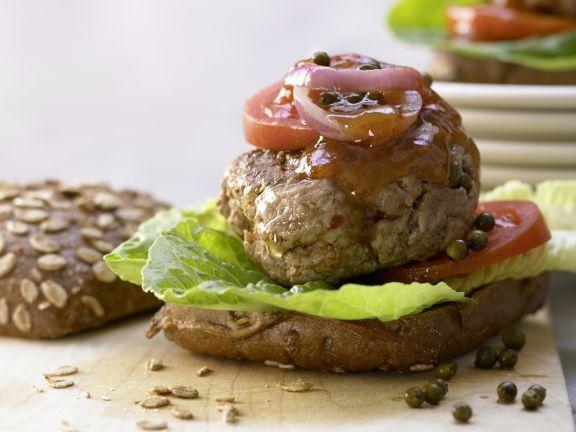 Healthy, Spicy Beef Burger