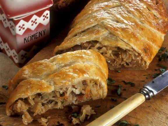 Hearty Sauerkraut Strudel
