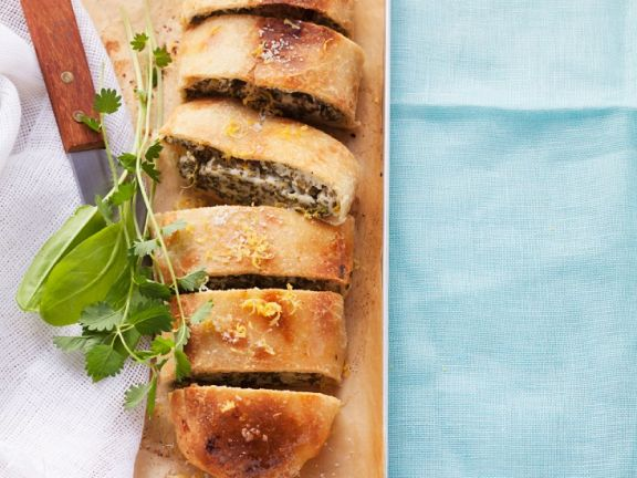 Herb and Cream Cheese Strudel