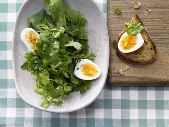 Herb Salad with Eggs