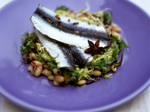 Herring Fillets with Bean Salad