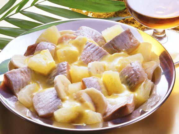 Herring in Curry Cream