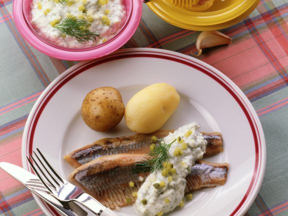 Herring with Dill and Cucumber Quark