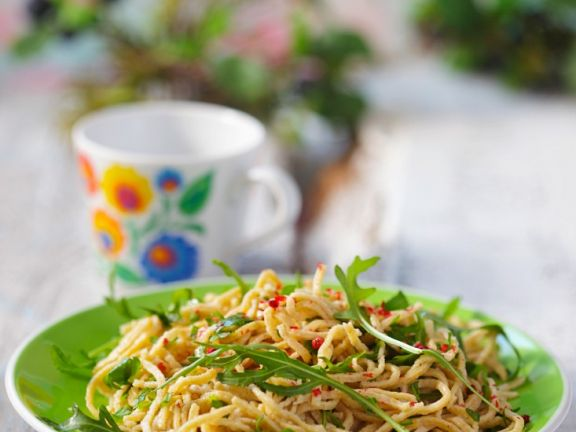 Homemade Pasta with Arugula