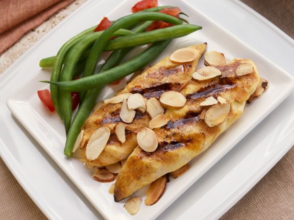 Honey Mustard Chicken with Toasted Almonds and Green Beans