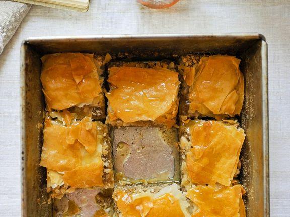 Honey Nut Filo Pastries