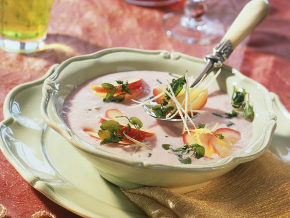 Horseradish and Apple Soup with Marjoram