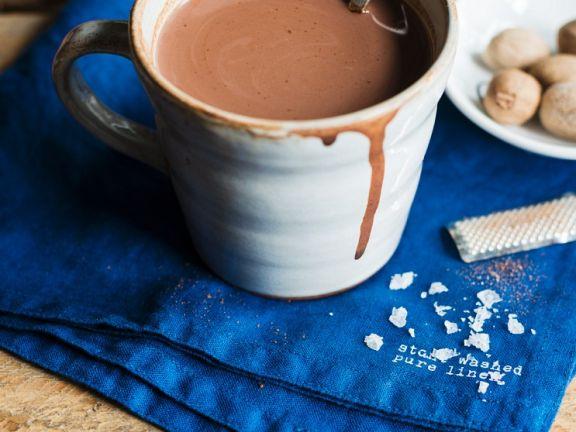 Hot Chocolate with Sea Salt and Nutmeg